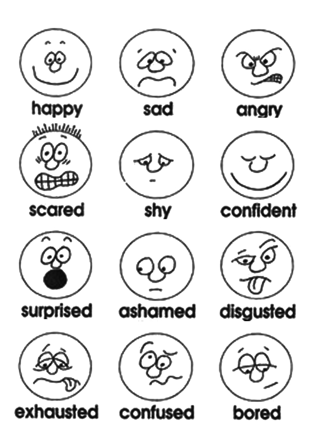 Facial emotions on paper